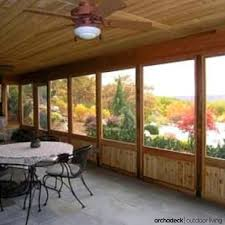 Patio Enclosures Rochester Ny by Screened Porch And Patio Enclosure With Kneewall Rails