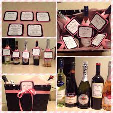 bridal shower wine basket a year of firsts wine basket for bridal shower gift wedding