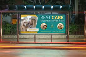veterinarian clinic billboard template by owpictures graphicriver