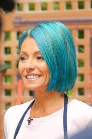 kelly ripa hair kelly ripa debuts bright blue hair today s news our take tv guide