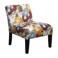 Amazoncom Floral Graffiti Armless Slipper Accent Chair Kitchen - Floral accent chairs living room