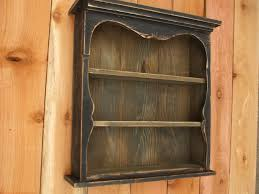 buy a hand made shabby chic style black wall shelf distressed