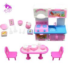 barbie kitchen furniture online shop 20pcs 3 colors kitchen set for barbie doll furniture