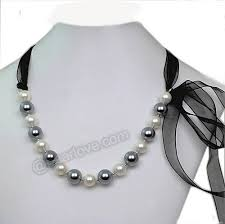 pearl ribbon 12mm of pearl ribbon necklace
