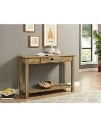 entry shelf amazing deal on 48 country style entry console table in barnwood