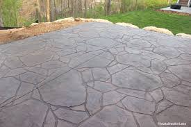 Stamped Concrete Backyard Ideas How To Build A Patio Firepit How To Nest For Less