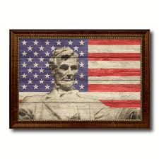 american flag home decor abraham lincoln memorial flag home decor office wall art decoration