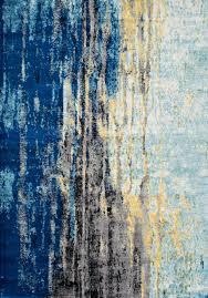 Modern Blue Rugs Bosphorus Abstract Waterfall Rug Blue Rug Rugs Usa