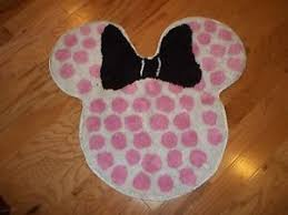 Disney Bath Rug Disney Minnie Mouse Pink Polka Dot Bath Rug Ebay