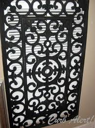 Decorative Vinyl Floor Mats by Curb Alert Repurposed Door Mat To Cover An Ugly Return Air Vent