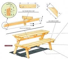picnic table bench plans convertible picnic table bench plans bench ideas
