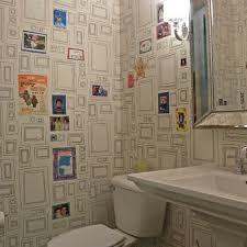 wallpapered bathrooms ideas 33 best wallpaper bathrooms images on bathroom