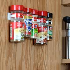 Kitchen Cabinet Door Spice Rack Kitchen Pantry Door Mounted White Plastic Spice Holder With