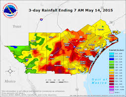 rainfall totals map south heavy and flooding event may 13th 2015