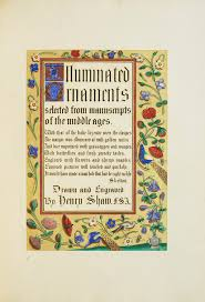 illuminated ornaments selected from manuscripts and early printed
