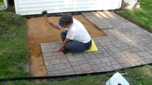 Installing A Patio With Pavers Bar Furniture How To Build A Patio How To Build A Patio Deck How
