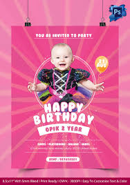 birthday flyer template u2013 37 free psd ai vector eps format