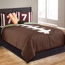 brown football bedding twin full queen sports comforter set with