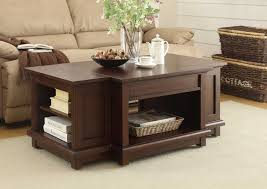 homelegance bellamy cocktail table with lift top on casters warm