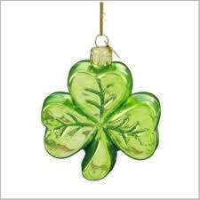 shamrock glass ornament shamrock glass ornaments