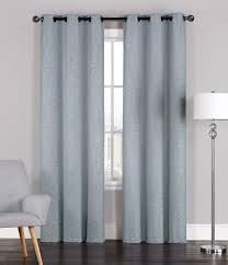Light Gray Blackout Curtains Pair Of Adelaide Crinkled Window Curtain Panels W Grommets 96
