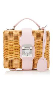 pebble grain harley rattan bag by mark cross moda operandi