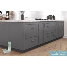 36 3 drawer base kitchen cabinet j collection shaker assembled 36 in x 34 5 in x 24 in 3