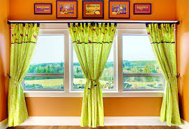 Tab Curtains Pattern Tab Top Panel Curtains With Button Accents Sew4home