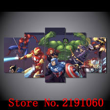 online shop atfipan large hd spider man captain america animation