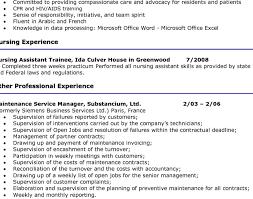 entry level nursing assistant resume professional entry level