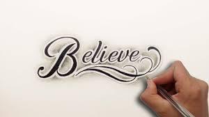 diseño letras believe lettering design believe nosfe ink