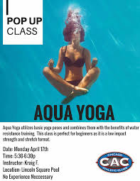 pop up aqua yoga at lsac