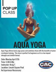 pop up aqua yoga at lsac