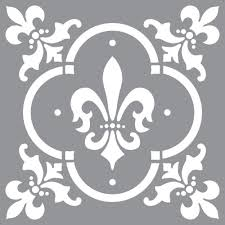 decoart americana decor fleur de lis tile stencil ads04 k the