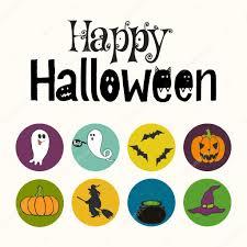 happy halloween hand lettering u2014 stock vector tashanatasha