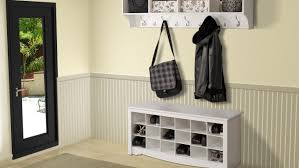 bench gripping hall bench coat rack storage interesting hallway
