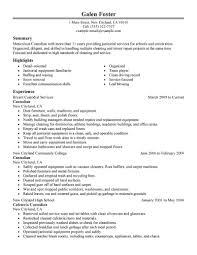 Maintenance Resume Example by Wondrous Inspration Janitorial Resume 8 11 Amazing Maintenance