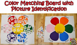 toddler color matching felt board with picture identification