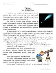 reading comprehension test for grade 5 solar system reading comprehension worksheets page 2 pics