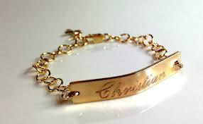 baby gold bracelet with name christening bracelet baby baptism name bracelet children