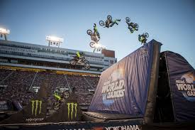 best freestyle motocross riders watch harry bink land rock solid front flip to win nitro world