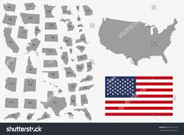 Ga Usa Map by Ohio Red Map On Gray Usa Map Vector Clip Art Vector Images North