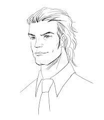 vector sketch man portrait stock images image 12553544