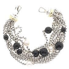 onyx pearl bracelet images Yurman pearl black onyx chain bracelet jpg