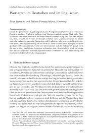K Hen In U Form G Stig Wortarten Im Deutschen Und Im Englischen Pdf Download Available
