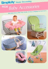 baby car seat cover stroller sewing pattern 4636 simplicity for