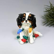 cavalier king charles spaniel tricolor ornament