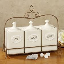White Kitchen Canister Kitchen Canister Sets For Kitchen Counter With Kitchen Jars And