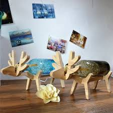 led light desk l creative beer bottles deer table ls desk lighting for decoration