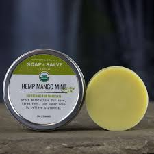 organic lotion bar hemp mango mint chagrin valley soap